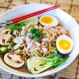 Japanese Shrimp Ramen in Miso Beef Broth