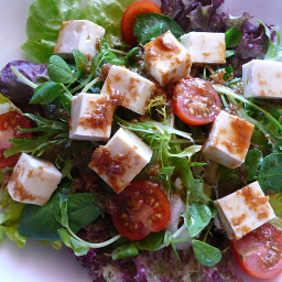 Japanese Tofu Salad with Garlic Dressing