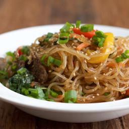 Japchae: Korean Stir Fried Noodles