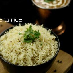 jeera rice recipe | jeera pulao recipe | steamed zeera rice