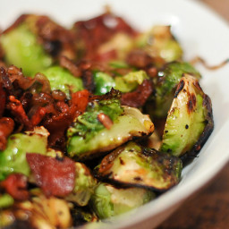 Jeffrey's Green Chile Bacon Brussel Sprouts