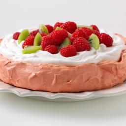 Jello Pavlova (healthy, dessert)