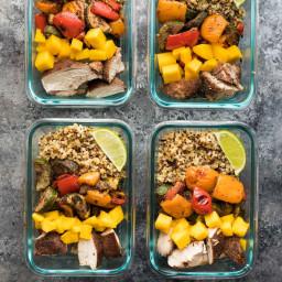 Jerk Chicken Meal Prep Lunch Bowls