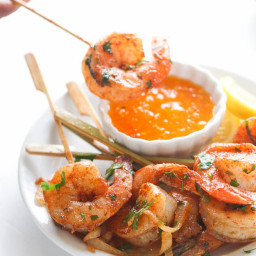 Jerk Shrimp Skewers