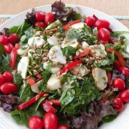 Jerusalem Artichoke Salad with Greens and Herbs