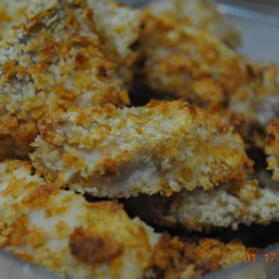 Jodie's baked crispy fish sticks