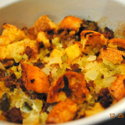 Jodie's Holiday Sausage Stuffing