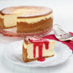 Joe's Say Cheese Cheesecake with Fresh Strawberry Sauce