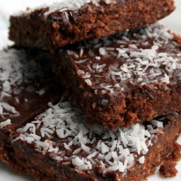 Jo's chocolate coconut oat slice