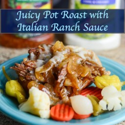 Juicy Pot Roast Recipe with Italian Ranch Sauce