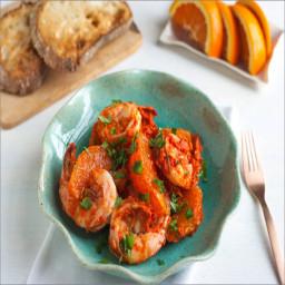 Jumbo Shrimp and Blood Orange Charmola Salad