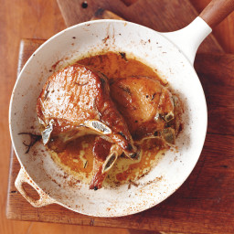 Juniper-Brined Double-Cut Pork Chops