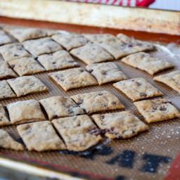 Kalamata Olive and Spelt Sourdough Crackers