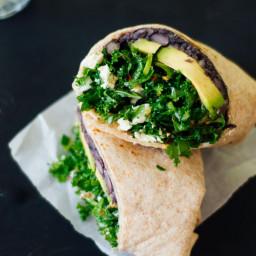 Kale and Black Bean Burritos
