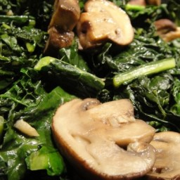 Kale and Garlicy Mushrooms