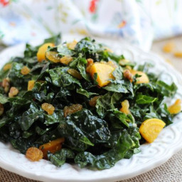 Kale and Golden Beet Salad with Tahini-Lemon Dressing