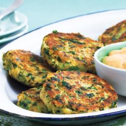 Kale and Potato Cakes With Paprika Lemon Mayo
