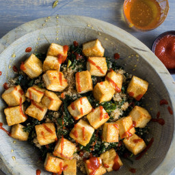 Kale and Quinoa Salad With Tofu and Miso