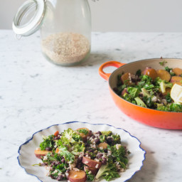 Kale and Sweet Potato Stir-Fry