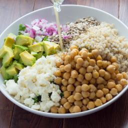 Kale, Barley and Feta Salad with a Honey-Lemon Vinaigrette