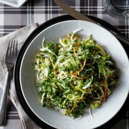 Kale, Cabbage, & Carrot Salad w/ Creamy Caper Dressing