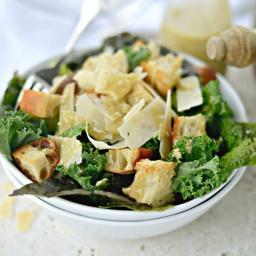 Kale Caesar Salad + Caesar Vinaigrette