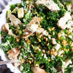 Kale Chicken Caesar Salad {Paleo, Whole30}