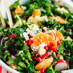 Kale, Clementine and Feta Salad