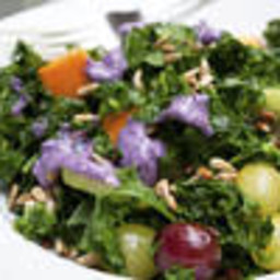 Kale Fruit Salad With Blueberry Dressing