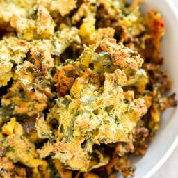 Kale Pakora (Crispy Chickpea Flour Fritters) Gluten-free