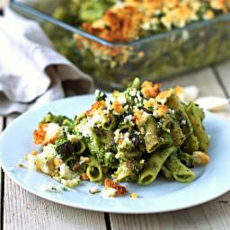 Kale Pesto Pasta Casserole [Vegan, Gluten-Free]