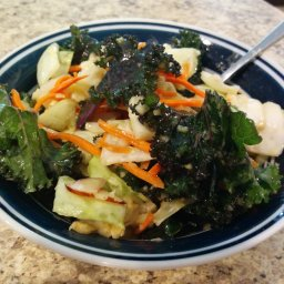 Kale Salad with Ginger Peanut Dressing