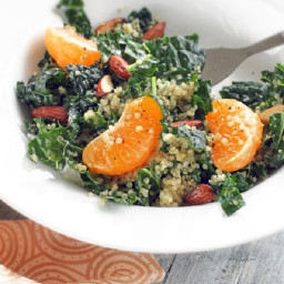 Kale Salad with Quinoa, Tangerines & Almonds