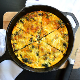 Kale and Chorizo Frittata