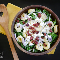 Kale, Tortellini and Cranberry Salad