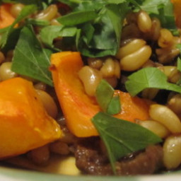 Kamut Berries with Porcini Mushrooms and Butternut Squash