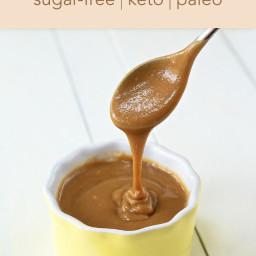 Keto and Paleo Caramel Sauce