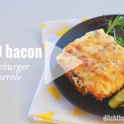 Keto Bacon Cheeseburger Casserole