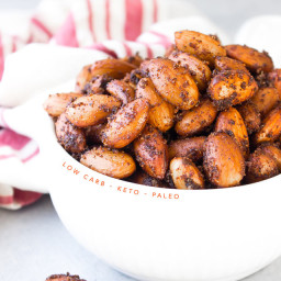 Keto BBQ Roasted Almonds
