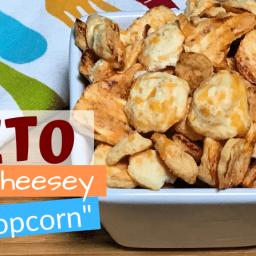"""Keto Cheese Meringue """"Popcorn"""""""