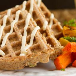 Keto Crispy Flaxseed Waffles