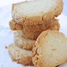 Keto Lemon Almond Shortbread Cookies