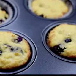 Keto Low-Carb Easy Sugar-Free Blueberry Breakfast Muffins