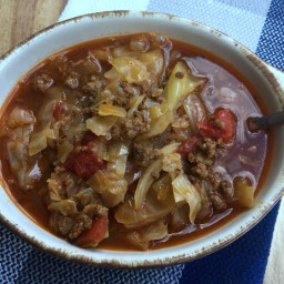 Keto/Low Carb Unstuffed Cabbage Roll Soup {Instant Pot or Crock Pot}