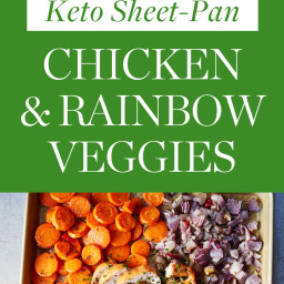 Keto Sheet-Pan Chicken and Rainbow Veggies