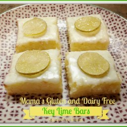 Key Lime Bars with Candied Key Limes ~ Gluten Free and Dairy Free
