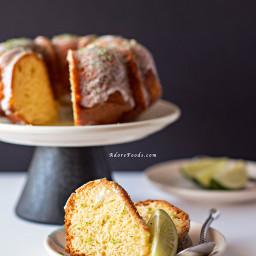 Key Lime Bundt Cake with Coconut Lime Glaze