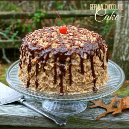 Kicked-Up German Chocolate Cake From a Mix with Homemade Coconut Pecan Fros