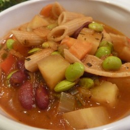 Kidney Bean Pasta Soup