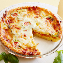 Kids Can Make: Hash Brown, Tomato and Mozzarella Quiche